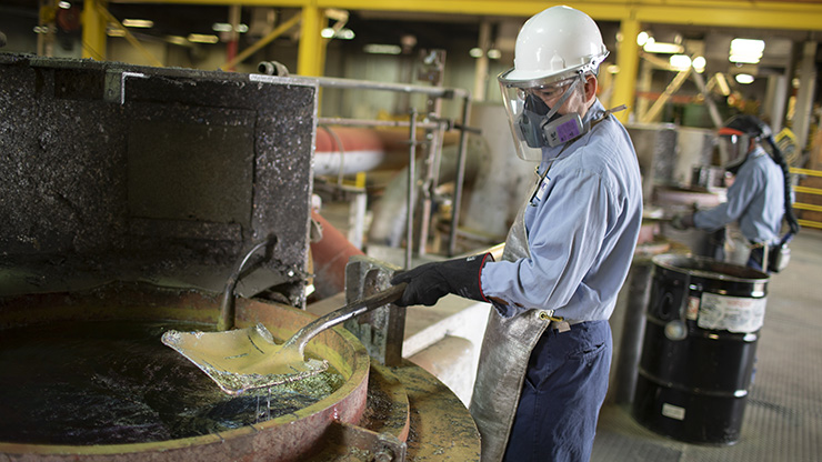 A Seafab Metals Company employee at work.