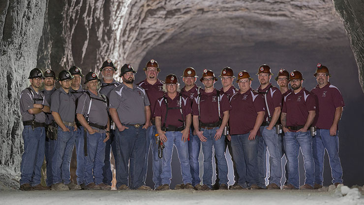 You could join a mine rescue team as part of your mining job at Doe Run.