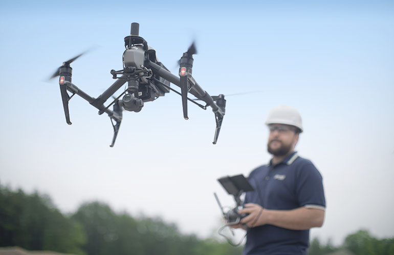 Mining technology like the drone shown are just one of three innovations Doe Run is piloting to increase mine production and improve safety.