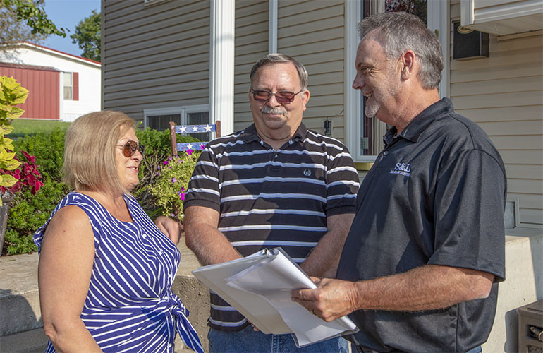 Doe Run's donations support health, safety and education initiatives in our Southeast Missouri community. Here we meet with neighbors to share information.