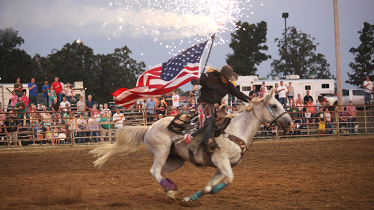 Doe Run supports our communities by sponsoring local events, like the Salem Area Chamber of Commerce Rodeo.