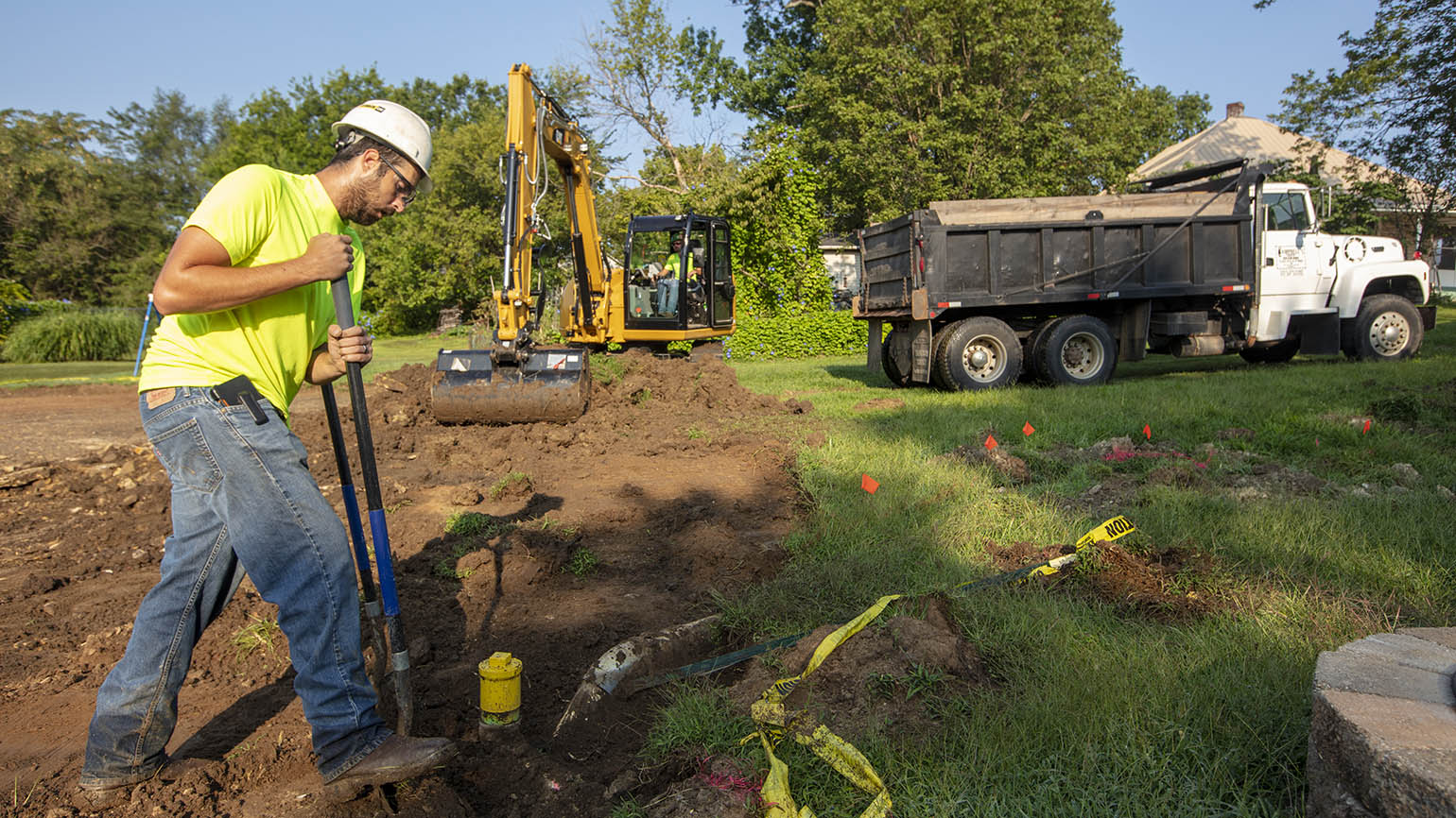 Crews replace soil as part of remediation efforts in St. Francois County. Doe Run continues to make progress on historic mine site remediation projects.